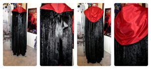 Black Velvet Cloak by Misguided-Ghost1612