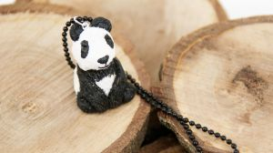 Panda Polymer Clay Necklace by polgabice