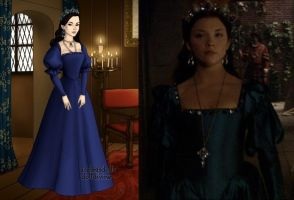 Anne's blue jewel dress by LadyAquanine73551