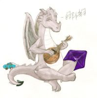 Me Playing the Mandolin by hyperjet