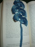 Queen Anne's lace crochet bookmark by meri3309
