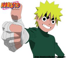 Naruto Lee - Lineart colored by DennisStelly