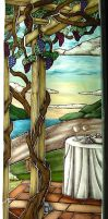 Tuscan Valley Stained Glass by ImaginedGlass