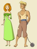 Two character designs by thundercake