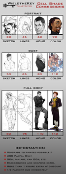 2014-2015 Cell Shade Commission Prices by WieldstheKey