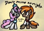 MLP: Don't Mine at Night (Sweetie and Button) by KikiRDCZ