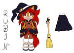 Rubin the Horse Halloween Outfit Reference by RubintheHorse