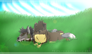 .:Lying in the grass:. by TheDarkHyena