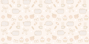 Wallpaper-Pusheen The Cat by 010LuchiiEditions