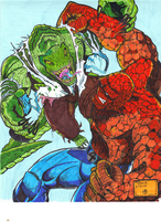 THE THING vs KILLER CROC by gagex07