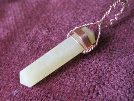 Lemon Quartz and Copper Wire-Wrapped Pendant 7 by Windthin