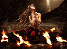 I Set Fire To The Rain . . . by shiny-shadows-Art