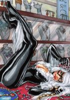 Black Cat sketch card by CassandraJames