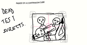 Inside of a Companion Cube by Anonymous--Art