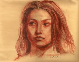 Girl in Conte by bibiaan
