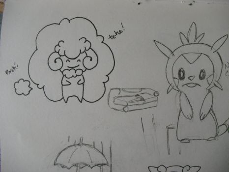 Farting whimsicott by Snifflefox