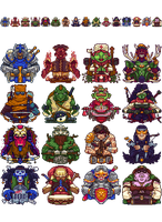 Pixel RPG Classes by Olsonmabob