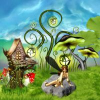 A Faerie's Home Sweet Home by VisualPoetress
