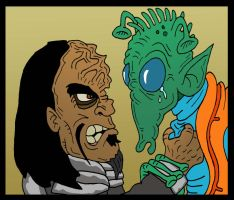 Klingon vs Rodian by Lordwormm