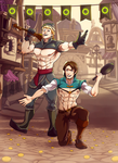 C : Kristoff and Flynn by greggileano