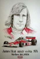 James Hunt Tribute by machoart
