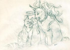 TDK And Zi Sketch by ElementalSpirits
