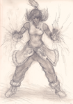 [Almost] Daily Sketch 007 - Korra: Rage Mode On by slagjoeyoco