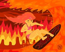 Lava Surfin' Flame Princess by Kairu-Hakubi
