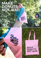 MAKE DONUTS NOT WAR by Bobsmade