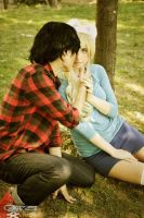 Marshall Lee and Fionna by TheDerpQueen