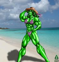 She Hulk on Vacation by AlphaCentaurian