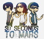 30 Seconds To Mars [cartoon ver.] by Mallowee
