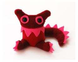 Red Baby Monster by treesofmachinery