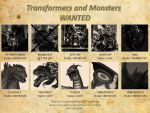 Transformers and Monsters Wanted Poster by artdog22