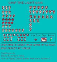 Chip sprite sheet by LeaoZX