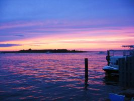 Sunset Over the Bay by TMCImages
