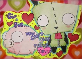 Cryssy-Miu's Gir and Pig Love by CubbiLovesYou22