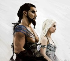 Drogo and Daenerys by RWhyte