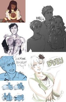 Zero Escape Sketchdump by Tsundernova