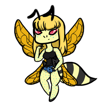 Wasp Girl Commission (+GIF!) by Absence-Adoptables