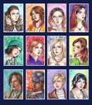 ACEO: Assassin's Creed Ladies by KimikoToudaiji