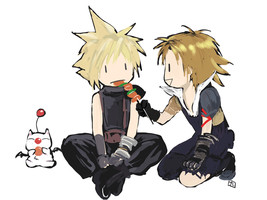 Cloud and Tidus by hummingbird712