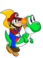 COLLAB: Mario and Yoshi by PoisonLuigi