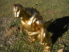 Custome painted Super Gold Mechagodzilla by PokepictureFigurefun