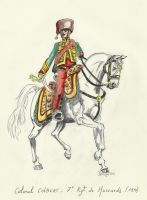 Colonel Colbert CO o the 7th Hussar Rgt - France by Stcyr74