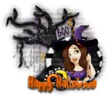 Boo - Happy Halloween PinUp Toons by CreativeDesignOutlet