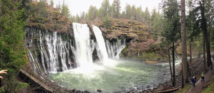 Waterfall with Lake Britton by rodrev