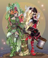 Pirate Ivy and Harley by NoFlutter