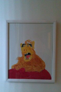 Alf painting by Shreddinghead