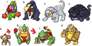 few sprites by Pixel--Pete